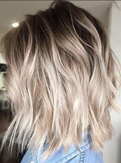 Short Light Brown Hair With Blonde Highlights