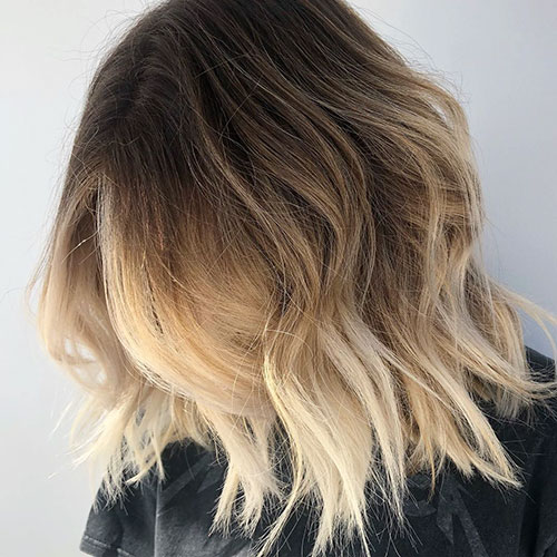 Brown And Blonde Short Hair