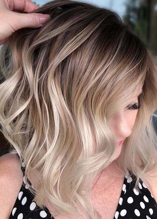 Brown And Blonde Balayage Short Hair