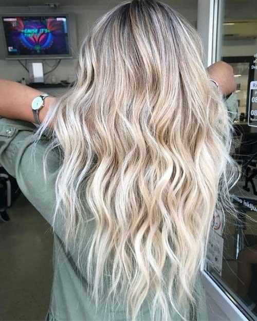 Blonde Beach Waves Hairstyles 2019-7