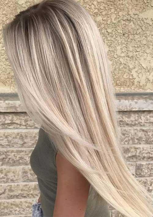 Straight Fine Blonde Hairstyles 2019-9