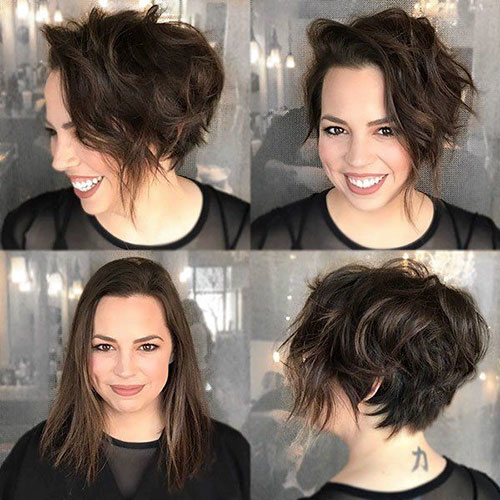 Super Short Hairstyles For Round Faces