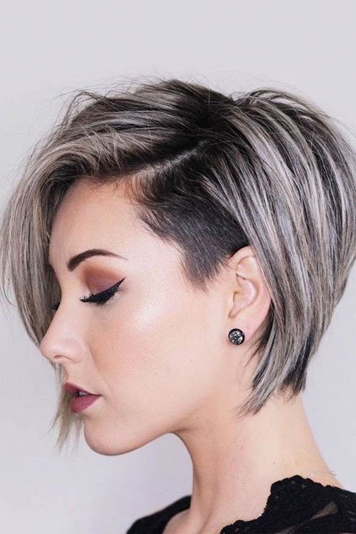 Shaved Side Design Hairstyles