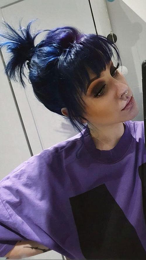 Vivid Purple Hair Color
