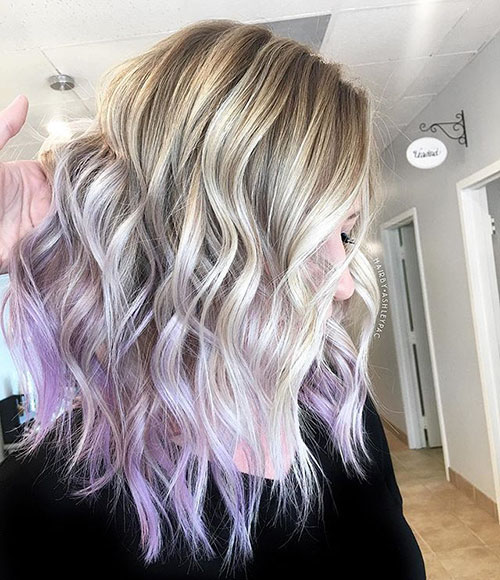 Purple And Blonde Hair Pictures