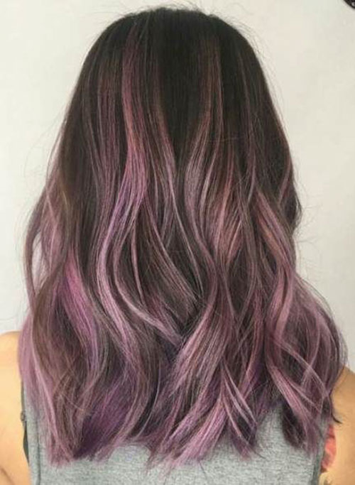 Images Of Purple Brown Hair Color