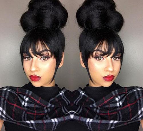 Fake Bun Black Hair