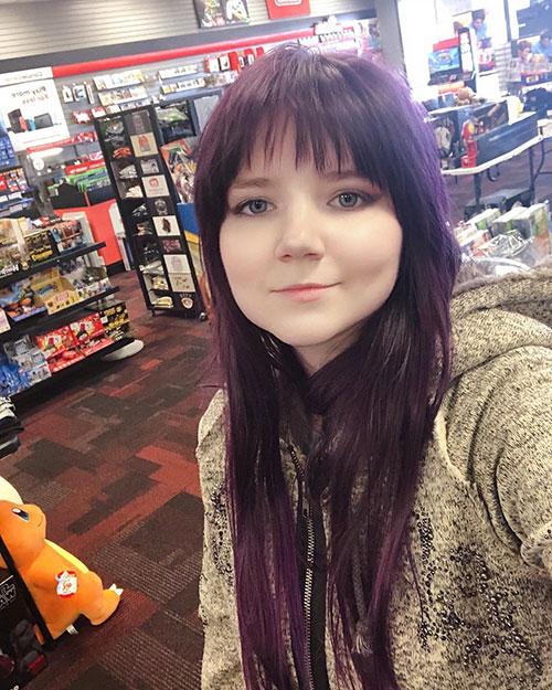 Hair Purple Color