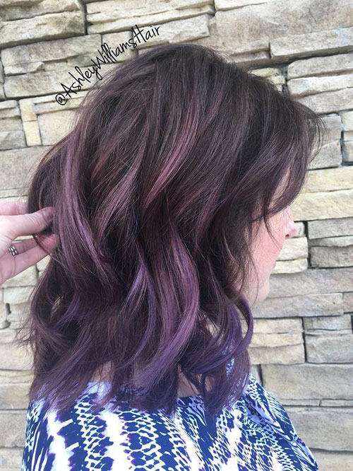 Brown And Purple Hair Pictures
