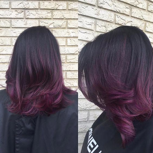 Brown And Purple Hair Color