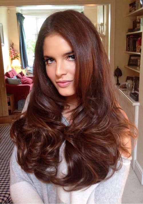 Chestnut Brown Hairstyles
