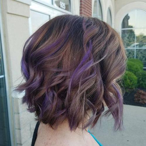 Purple Hair On Brown Hair