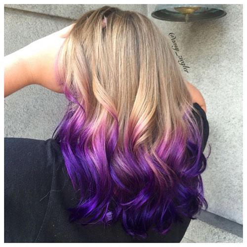 Blonde And Purple Hair Ideas
