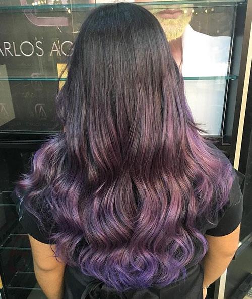 Purple Brown Hair