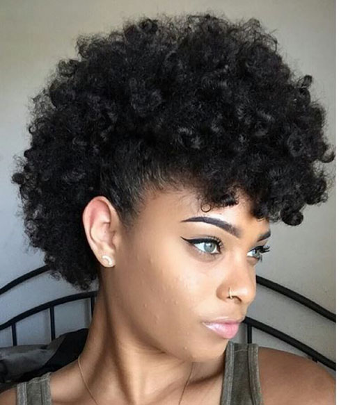 Mohawk Black Hair
