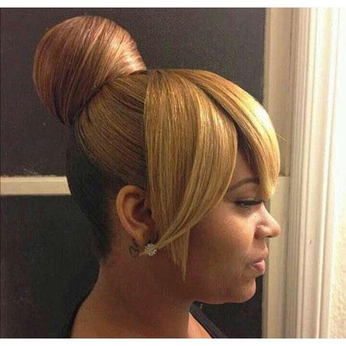 Black Wedding Bun Hairstyles