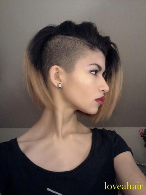 Side Shaved Hairstyles For Long Hair