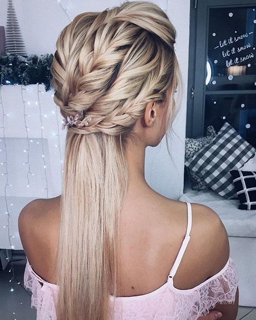 Braided Long Hair For Wedding