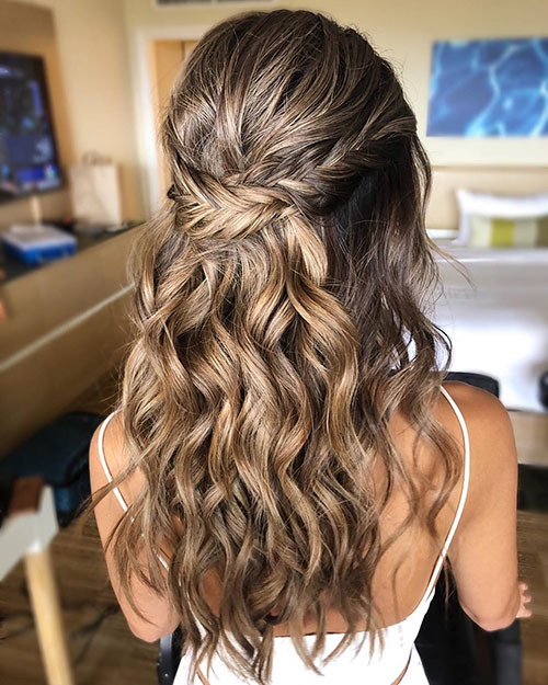 Long Hair Prom Styles