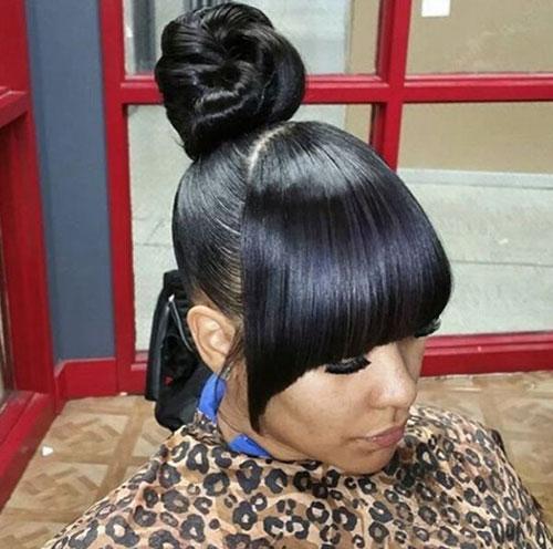 Wedding Bun Hairstyles For Black Hair