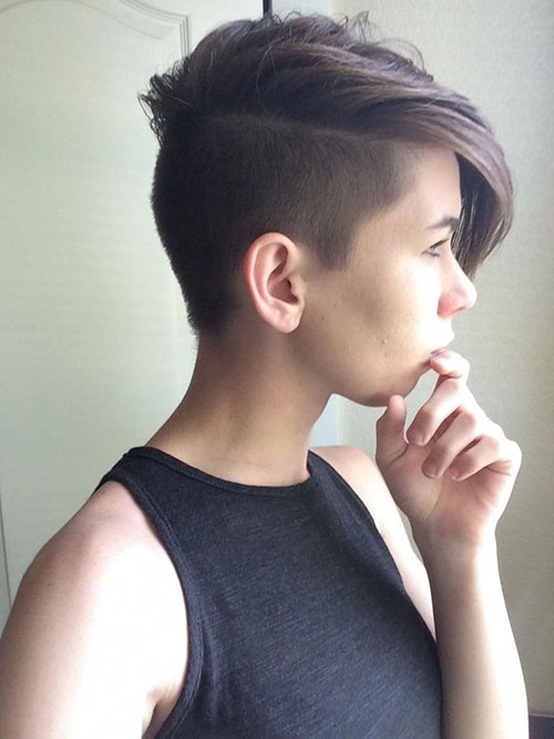 Long Hair With Shaved Side Pictures