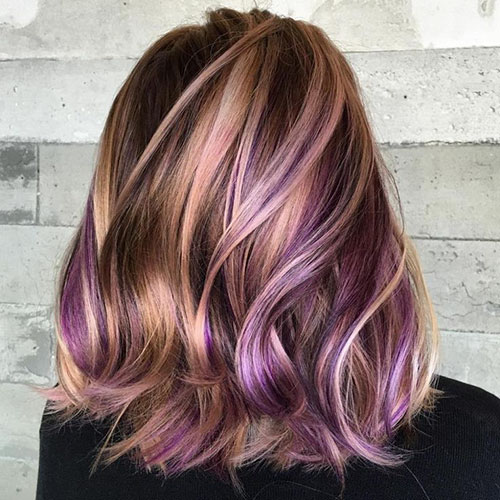Images Of Blonde And Purple Hair Color