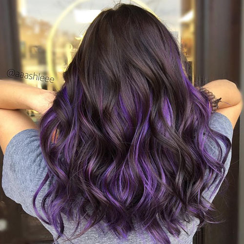 Purple And Brown Hair Ideas For Women