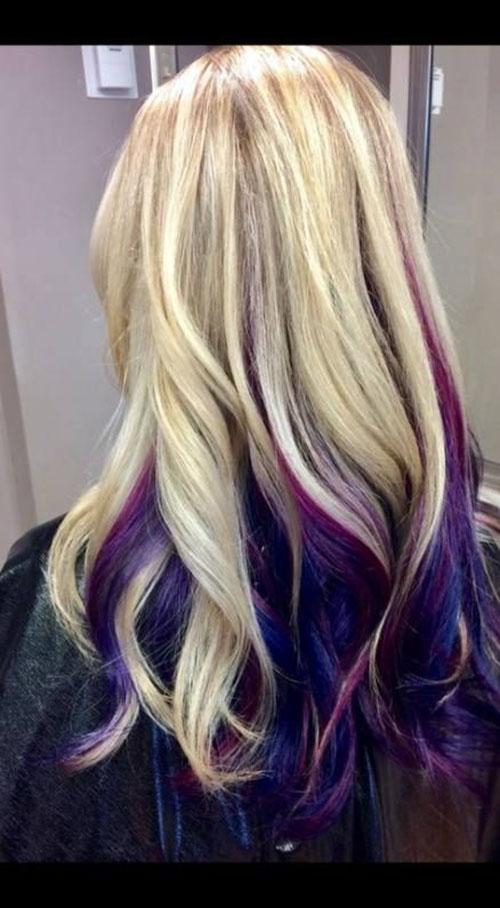 Purple Blonde Hair