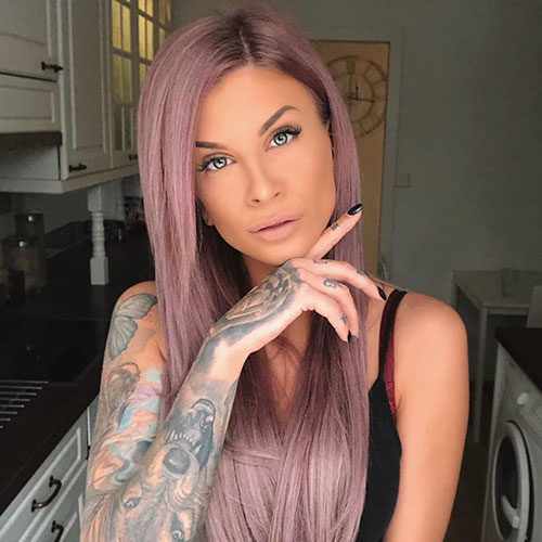 Purple Hair Color Styles