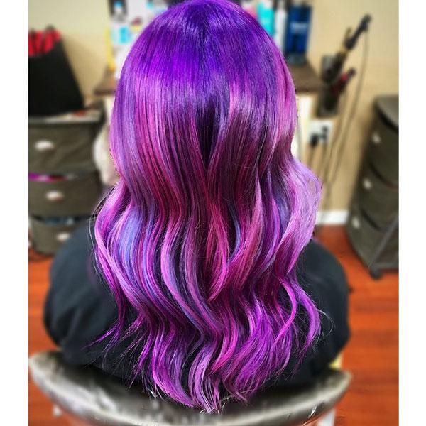 Purple Hair Color Images