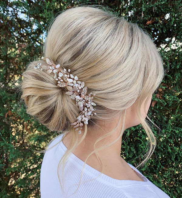Unique Bridesmaid Hair