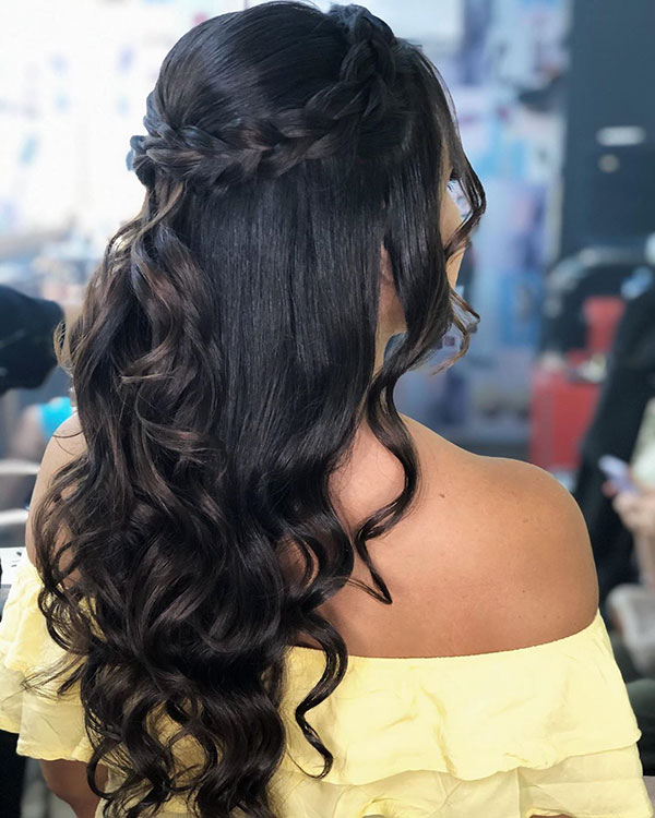 Hairstyles For Engagement Party