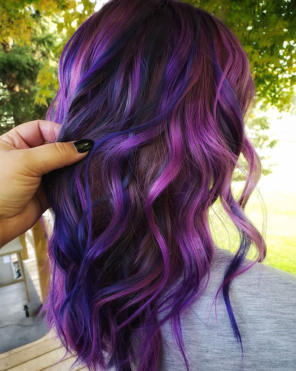 Purple Hair For Dark Hair
