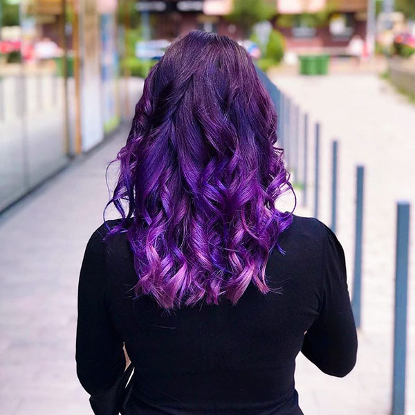 Hairstyles For Purple Hair Color