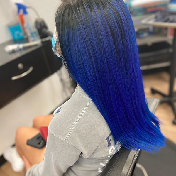 Beautiful Blue Hair