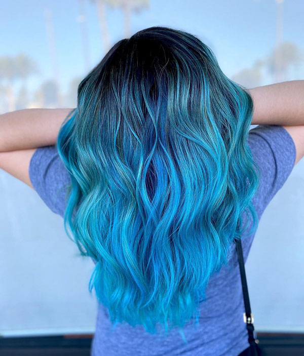 Cool Blue Hair Color