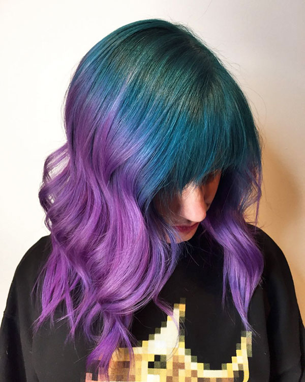 Haircuts For Purple Hair Color