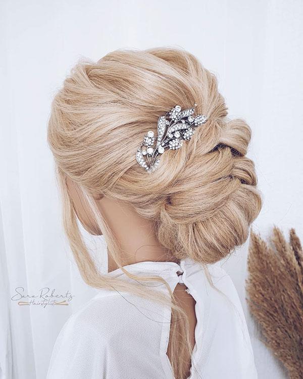 Bun Hair Designs For Bride