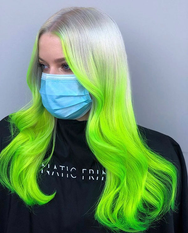 Green Color In Hair