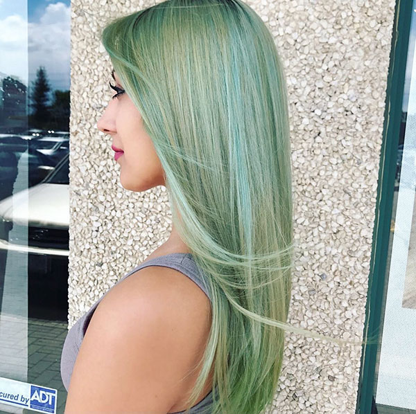 Pictures Of Green Hair