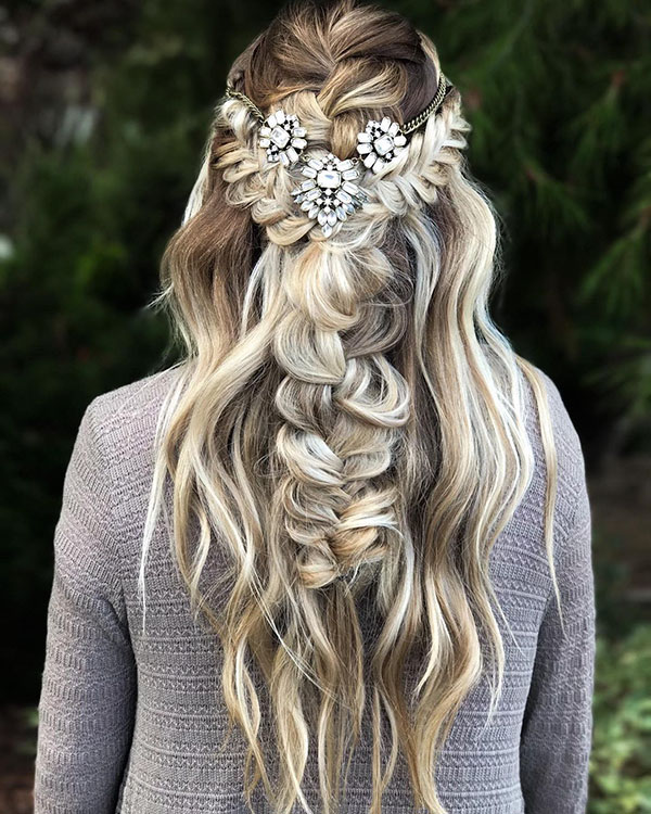 Pictures Of Half Up Hairstyles